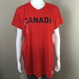 Women's Adidas Team Canada T-shirt XL Red New